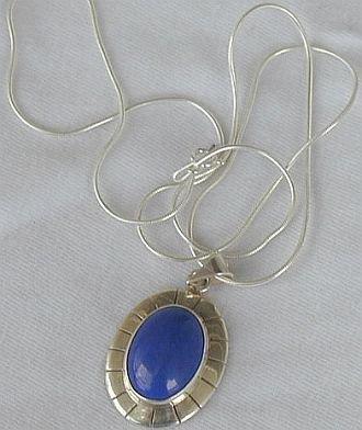 Blue agate pendant B