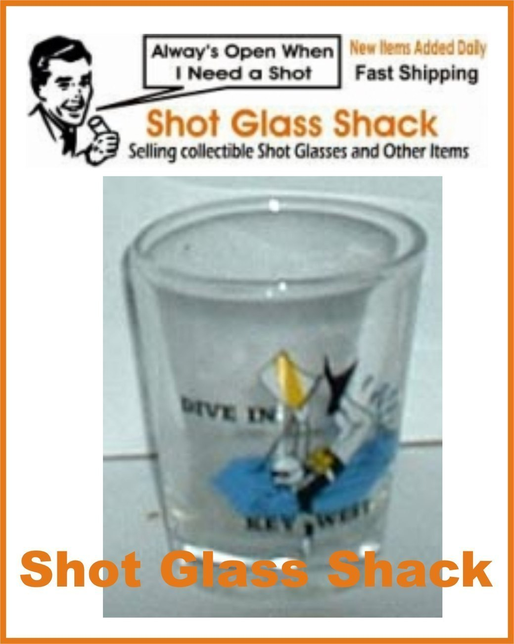 Key West Tourist Shot Glass