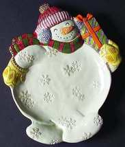 Christmas China Fitz & Floyd Frosty Friends Canape Plate - $13.95