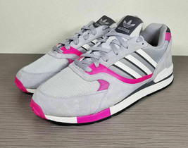 adidas Quesence Vintage 90's Style Runner, Grey/Shock Pink, Mens Size 13 / 48 - $50.39