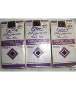 PANTYHOSE BLACK SIZE TALL LIGHT SUPPORT 3 PAIRS - $3.00