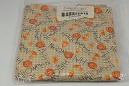 Longaberger Serving Tray Basket Liner Happy Halloween Pumpkins Candy Cor... - $24.99