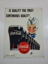 "RARE 1995 Coca Cola Metal/Tin Sign  10 1/2 ""x 14"" Vintage Collectible - $61.75"