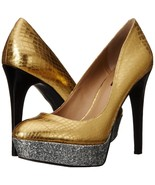 Women's BCBGeneration Mase B Dres Pump, BG-MASE B Sizes 5-7 DK Gold/Silver/Black - £43.48 GBP