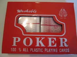 New Washable 100% All Plastic Poker Cards 2 Sets Included Blue And Red - $9.99