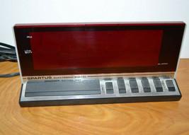 Vintage Retro Spartus Digital Alarm Clock Nice Working - $12.59