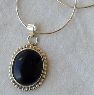 Onyx Maskit pendant