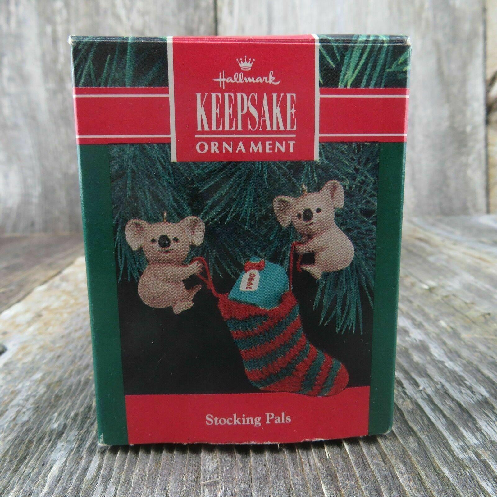 Vintage Koala Christmas Stocking Ornament Hallmark Keepsake 1990 image 7