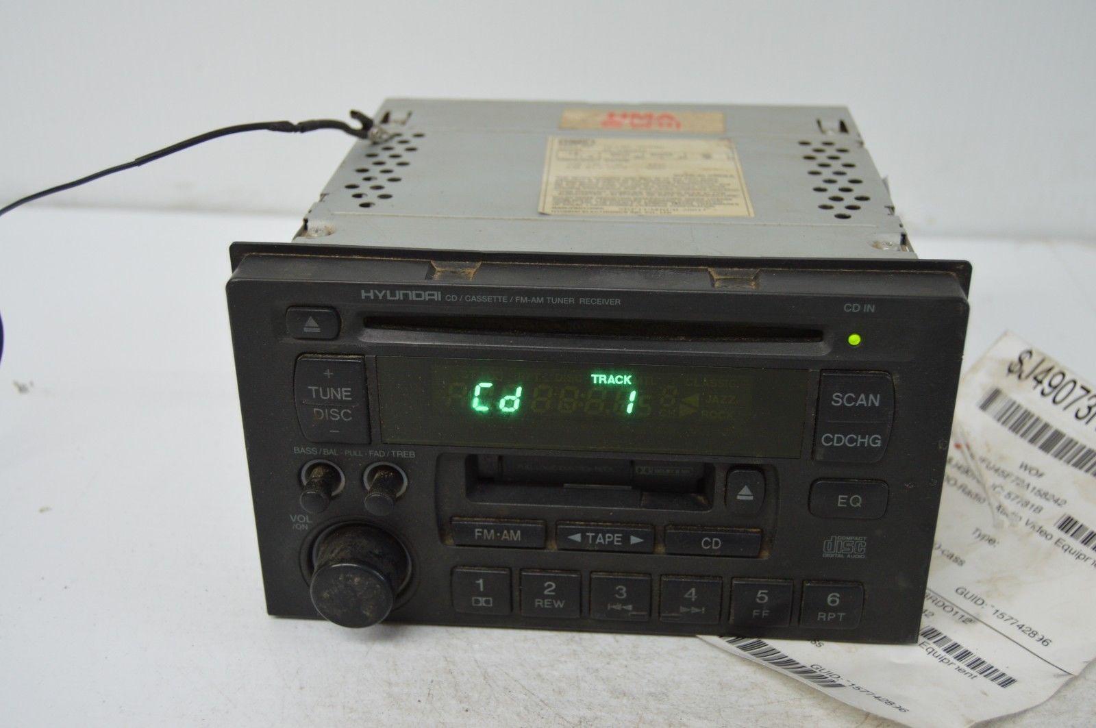 2002 2003 HYUNDAI XG RADIO CD PLAYER OEM RADIO 96140-39100 TESTED G52#023