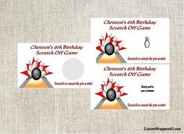 Bowling Birthday Scratch Off Game Tickets Favors - $3.96