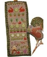 Bunny Garden Needleroll cross stitch chart Praiseworthy Stitches - $9.00