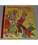 Vintasge Children's Illustrated Treasure Book Blondie's Dagwood Family 1954 - $8.00