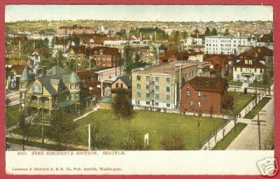 Primary image for SEATTLE WA Residence View Street Scene UDB Postcard BJs
