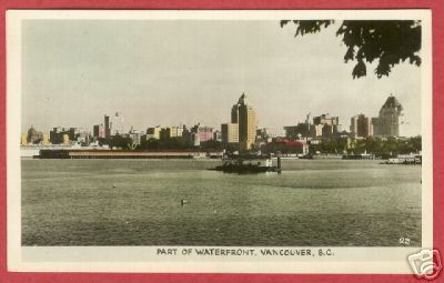 Vancouver BC Waterfront Canada RPPC Postcard BJs