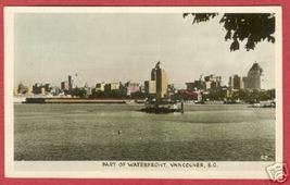 Vancouver BC Waterfront Canada RPPC Postcard BJs - $7.50