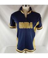 Vtg NBA Majestic M Blue Gold Warm Up Jersey Shirt 50th Anniversary 96-97 - $98.95