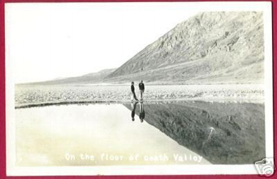 FLOOR DEATH VALLEY People Reflection RPPC Postcard