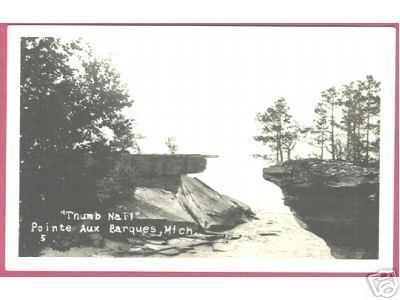 POINTE AUX BARQUES MICHIGAN Thumb Nail RPPC Mich