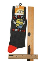 Cupid's Wingman - Despicable Me - Adult Sock 10-13 Crew Fashion Socks - $8.88