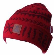 Asphalt Yacht Club Red Arcane Patch Cuff Beanie Skate Winter Hat AYC1410822 NWT image 1
