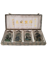 Vintage Great Wall China and Panda Snuff Bottle Set Reverse Hand Painted... - $34.99