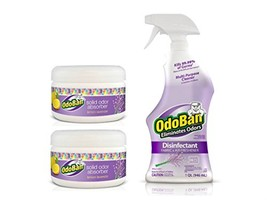 OdoBan Lavender Spray with Solid Odor Absorbers for Home and Small Spaces Pack o