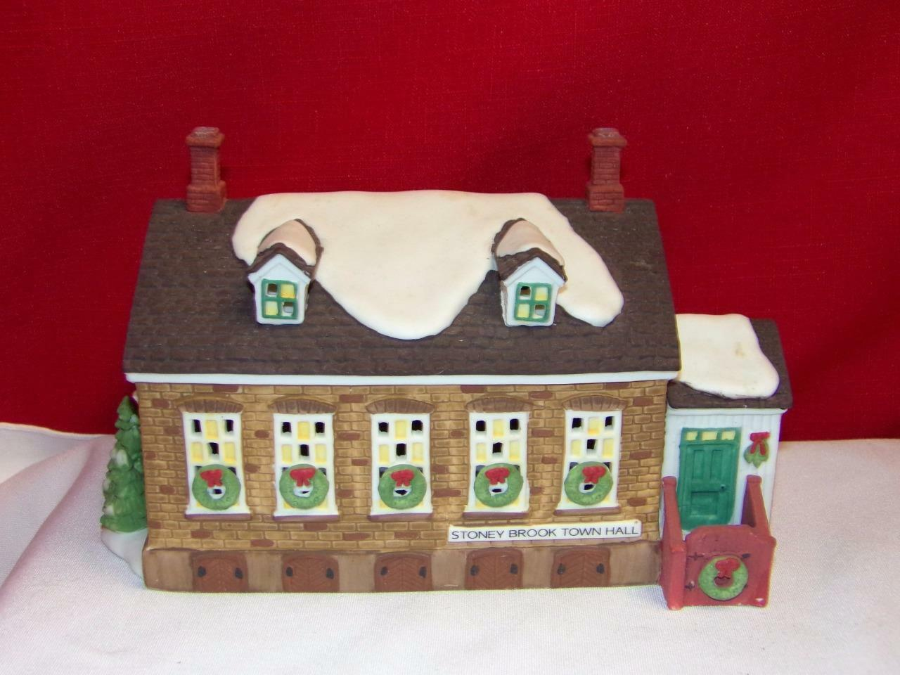 Primary image for Stoney Brook Town Hall Dept 56 New England Village-RETIRED-S1