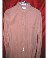 Mens John Weitz Long Sleeve Cotton Button Shirt 16 Sz L - $12.85