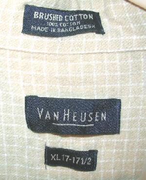 Mens Van Heusen Long Sleeve Cotton Button Shirt XL