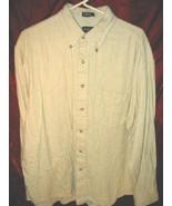 Mens Van Heusen Long Sleeve Cotton Button Shirt XL - $12.50