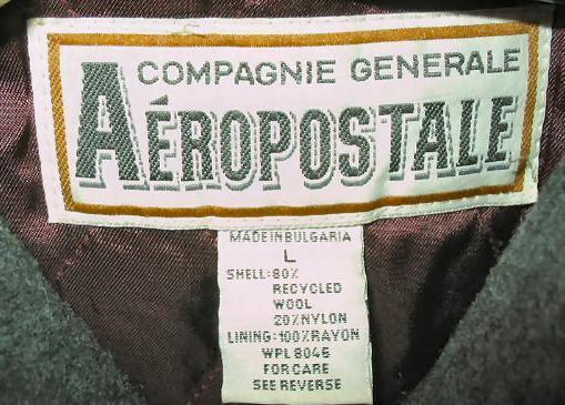 Nice Mens Aeropostale Wool Button Jacket Coat L