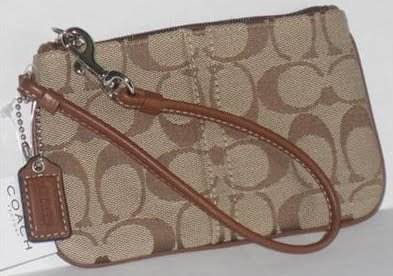 Primary image for COACH Signature SKNY Wristlet NWT 42391