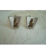 Vintage Silver-tone Cuff Links ~ Minuteman - $10.00