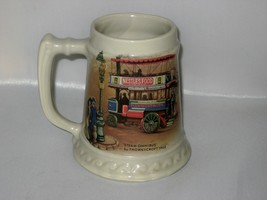 McCoy Beer Stein with Steam Omnibus by Thornycroft 1902  - $30.00