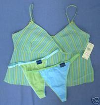 New sz LG VALERIE STEVENS Silk Camisole 2 thongs cotton L - $14.00