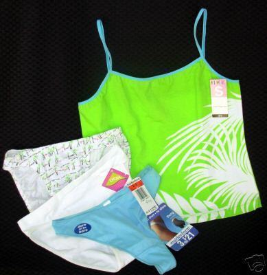 new lot sz S HUE cami C CLUB ALFANI Bikinis MAID Thong Small