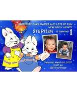 Max and & Ruby Personalized Photo Birthday Party Invitation - $19.99
