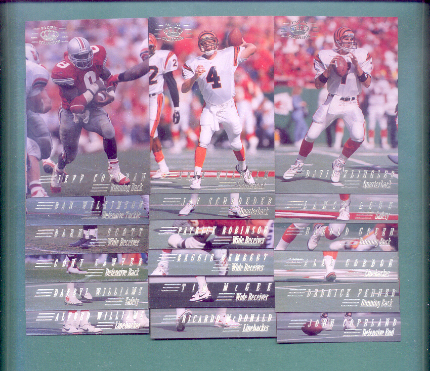 1994 Pacific Collection Cincinnati Bengals Football Team Set