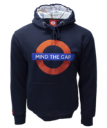 TFL™129 Licensed Unisex Mind the Gap™ Chain Stitch Embroidery Hooded Swe... - $34.99