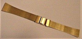 "NEW Gold-Tone Dressy SEIKO Watch Band 7"" long x  20mm Wide - $39.55"