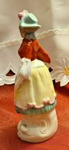 "Vintage Victorian Woman with Basket of Flowers Porcelain Figurine 6"" Tall  Made  image 4"