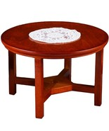 Dollhouse Round Table w Doily Reutter 1.814/9 Wood Miniature - $22.30