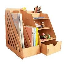 MineDecor Wood Desk Organizer Drawer Trays Office Desktop Organizers Fil... - $25.91