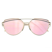 Womens Men Glasses Metal Flat Lens Vintage Fashion Mirrored Oversized Su... - $8.44
