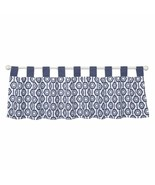 Trend Lab Hexagon Window Valance Navy White - $17.61