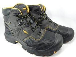 Keen Logandale Size 10 M (D) EU 43 Men's WP Steel Toe Work Boots Black 1017828