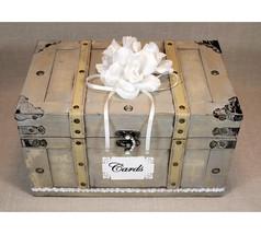 Shabby Chic Card Box, Vintage Wedding Card Box, Card Box for Wedding, - €55,26 EUR+