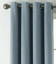(1) JC PENNEY JCP HOME Holland Linen BLUE 100% BLACKOUT Grommet 50 x 84 ... - $56.09