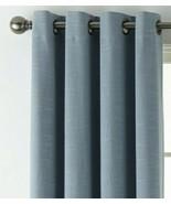 (1) JC PENNEY JCP HOME Holland Linen BLUE 100% BLACKOUT Grommet 50 x 84 ... - $51.44