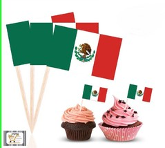 MEXICAN Flag Cupcake Decor Adult Party Favor Supply Birthday Topper TP0310 - $6.89+